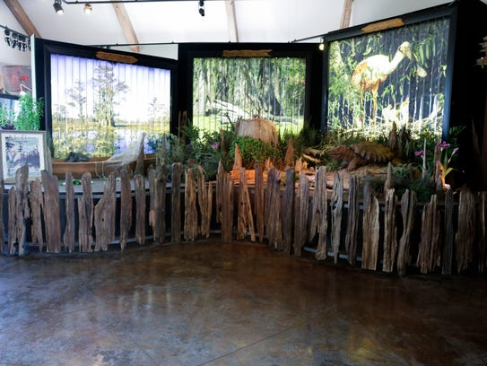 A display at the Atchafalaya Welcome Center in Butte