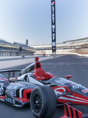 The Indianapolis Motor Speedway announces plans for a July 4th Rolling Stones concert at the Speedway, Tuesday, March 31, 2015. Robert Scheer / The Star