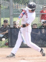 Franklin's Jake Giacobbi roped a single during the Patriots' seventh-inning rally.