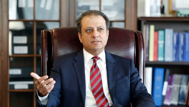 Preet Bharara, the U.S. attorney for the Southern District of New York, in his office in Manhattan.