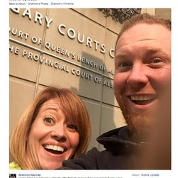 Shannon Neuman posted this image on Facebook after she and Chris Neuman filed for divorce.