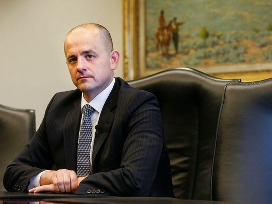 Evan McMullin, who's running for as an independent presidential bid, talks with the Deseret News and KSL editorial board in Salt Lake City.