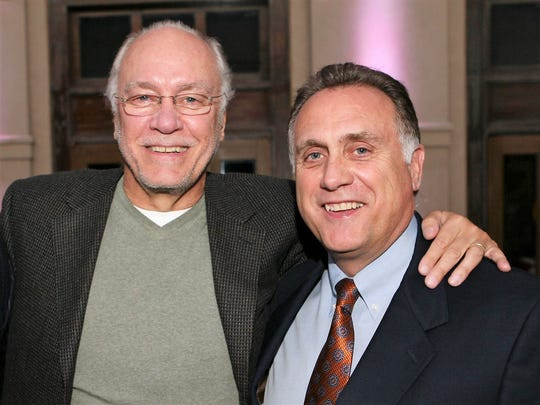 Wayne Vandenburg, left, and his brother, Russ Vandenburg, owners of TVO North America and affiliated companies, are shown at an El Paso event in 2008.