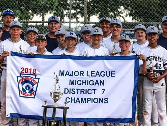 The Marysville 12U baseball team recently won its district