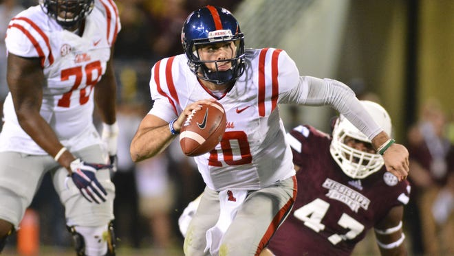 Quarterback Chad Kelly has committed six turnovers combined in Ole Miss' two losses this season.