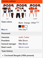 A Ravens fan edited the Bengals' Wikipedia page after the loss on Sunday.
