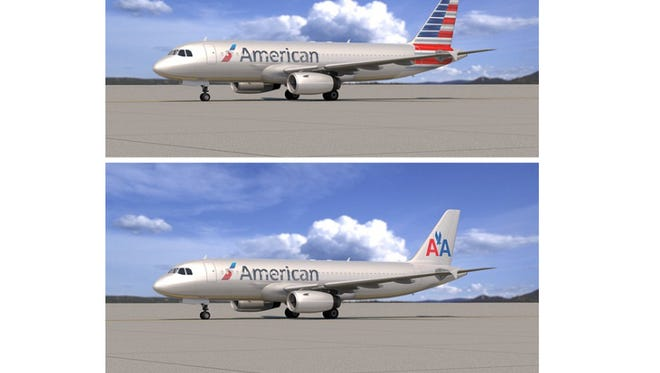 American is offering employees the chance to vote on one of two designs for its airplanes following its merger with US Airways.
