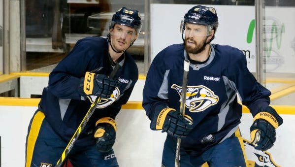 Roman Josi and Shea Weber each averaged over 26 minutes of ice time per game last season.