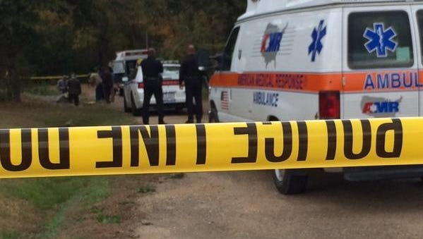 Jackson police on the scene where a body was found.