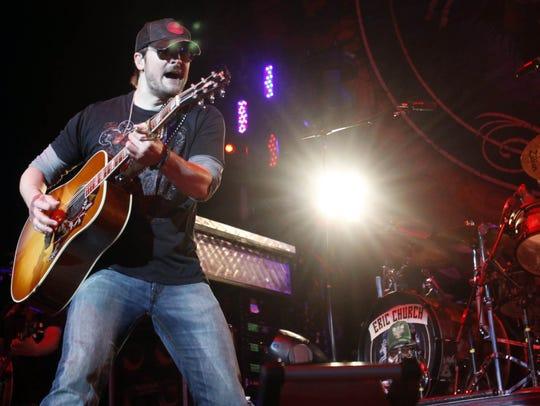 Eric Church in concert in Noblesville.