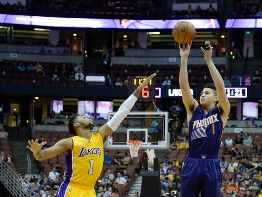 NBA: Preseason-Phoenix Suns at Los Angeles Lakers