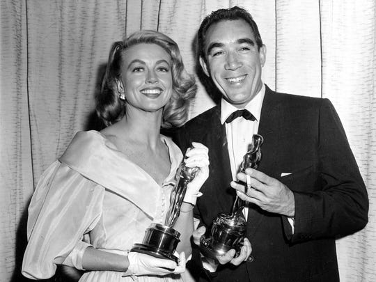 Oscar winner Dorothy Malone, pictured here with actor