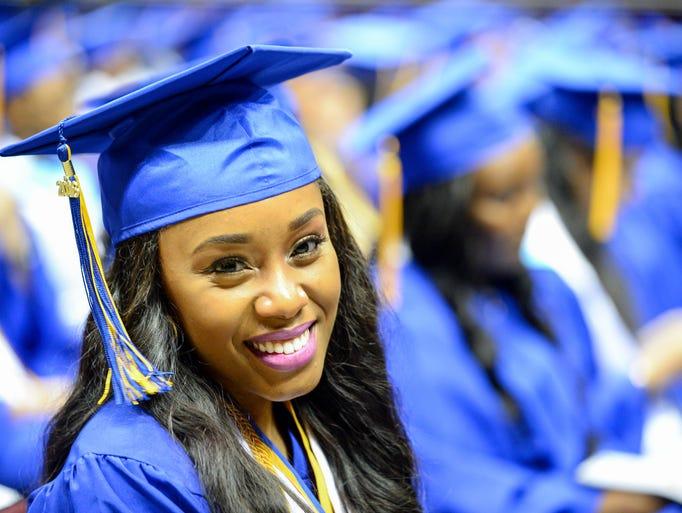 Rickards High School Class of 2016 graduates at their