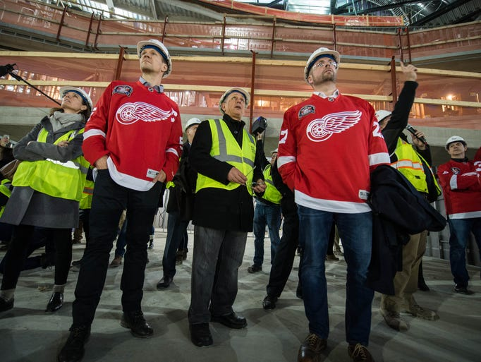 Nicklas Lidstrom, left, current general manager Ken