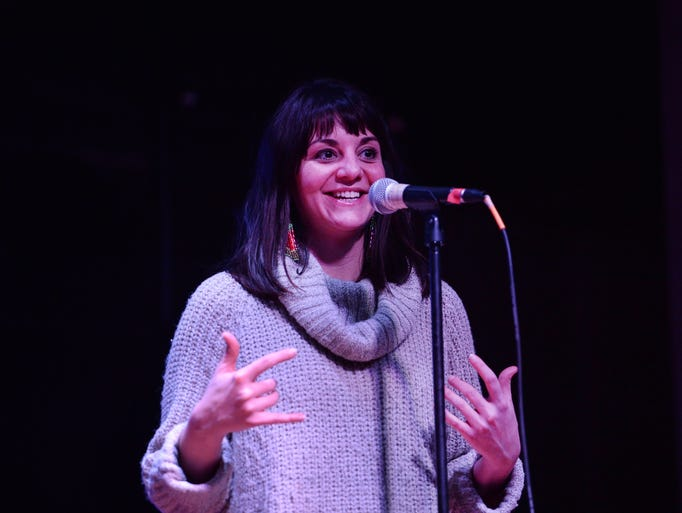 Janelle Buxton participates in the Coloradoan Storytellers