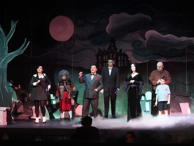 "The cast of ""The Addams Family, A New Musical"" rehearses"