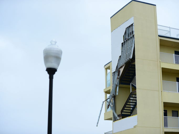 The Days Inn on 22nd street has sustained structural