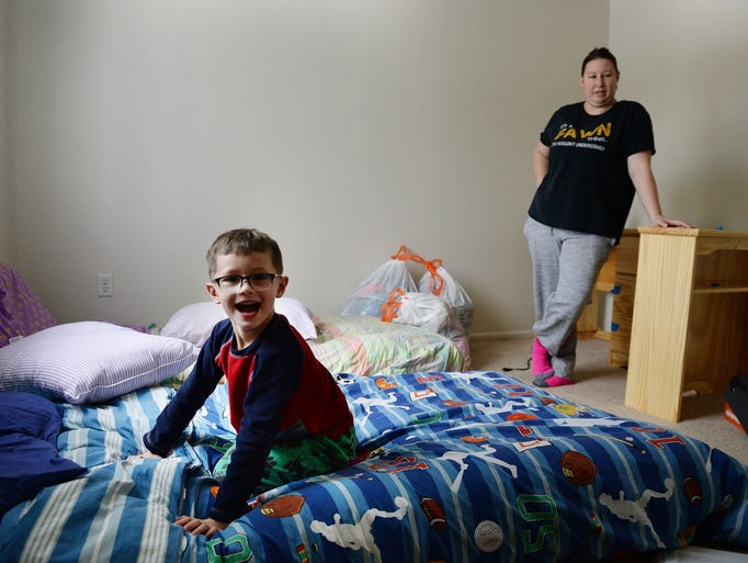 after more than a year mother and son have a home