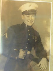 Robert Goodson was 17 when he joined the Marines in July 1941. After healing from combat wounds, he received a medical discharge in July 1945.