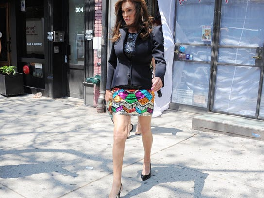Caitlyn Jenner seen leaving Patricia Field store in
