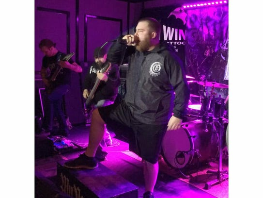 Willy Holthaus, lead singer of MyNorth, sings live