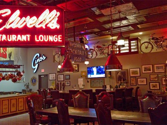 Find fancy neon signs inside Denny's Room at The Fletcher.