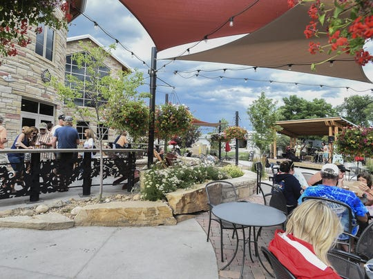 Odell Brewing Company patio Wednesday, July 15, 2015 in Fort Collins, Colo.