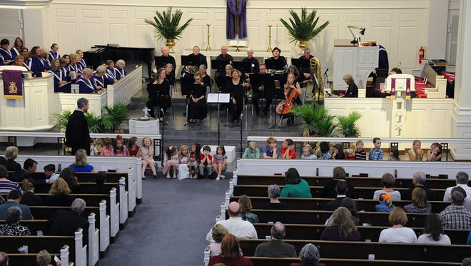 Palm Sunday services at Trinity United Methodist Church. The church begins its fall lay academy on Sept. 13.