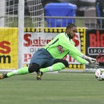 In his first year as starter, fourth-year pro Brandon Miller is 7-0-4 with a USL-best seven shutouts for the unbeaten Rhinos.