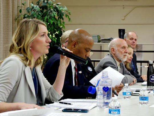 Audrey Denney, a Democrat challenging incumbent Doug