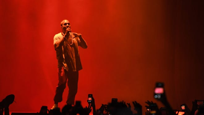 Kanye West performs on stage during The Meadows Music & Arts Festival on October 2, 2016 in Queens, New York.