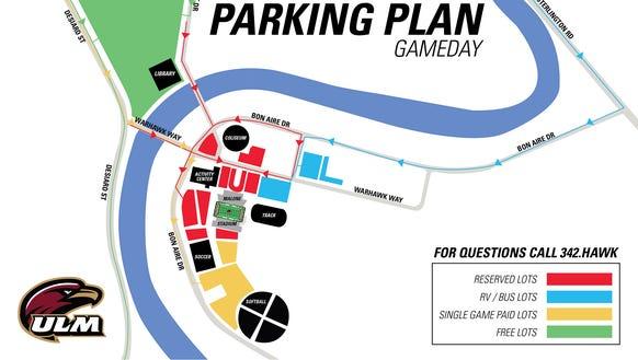Revised ULM parking map.
