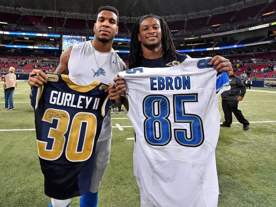 cheap Detroit Lions Eric Ebron Jerseys
