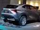 The Lexus LF-NX SUV concept after the sheet was pulled off at the unveiling at the Frankfurt Auto Show.