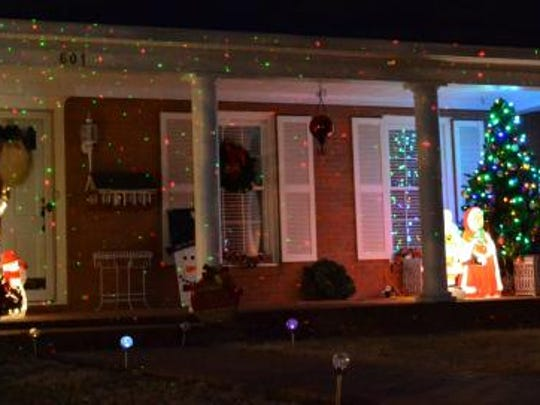 The third place award went to Corky Banks at 601 E. Main St.  Part of the display is pictured here.