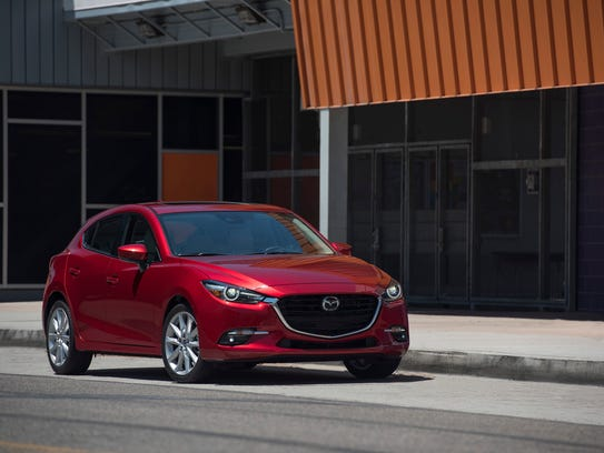 The 2017 Mazda 3.