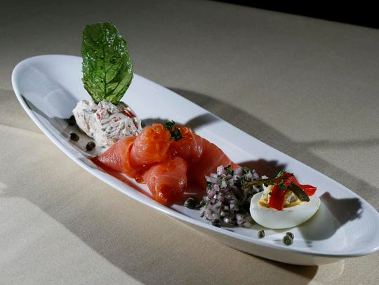 The Smoked Salmon Platter served at the Anoosh Bistro.