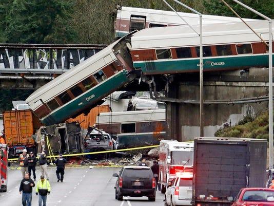 AP TRAIN DERAILMENT WASHINGTON STATE A FILE USA WA