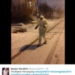 The Boston yeti live tweeted his jaunt through the streets of Boston from the Twitter handle @BostonYeti2015.