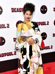 Zazie Beetz wowed in floral Valentino on the 'Deadpool 2' red carpet.