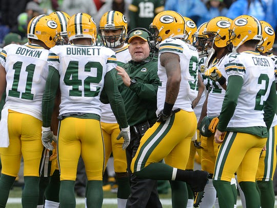 Green Bay Packers special teams coach Shawn Slocum,