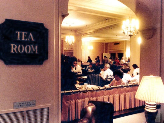 The Ayres Tea Room is shown on Nov. 8, 1990, shortly before it closed on Dec. 31, 1990. It was located on the 8th floor of the Downtown store.