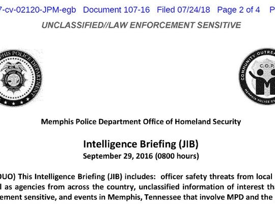 A screen shot from a Joint Intelligence Briefing created