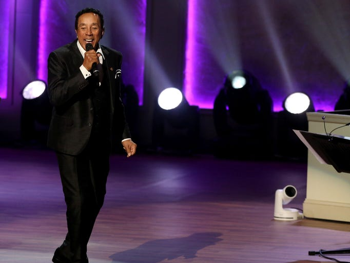 Smokey Robinson performs on stage inside the Daughters