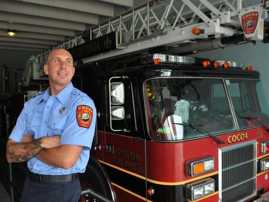 Cocoa Firefighter hero Matt Halladay