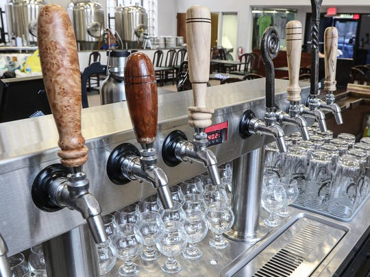 Taps at Man Skirt Brewing, a new brewery opening Saturday Oct. 3 on Main Street in Hackettstown.