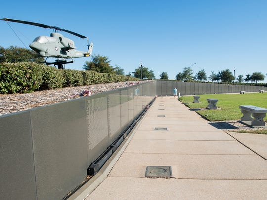 Wall South at Veterans Memorial Park in Pensacola on