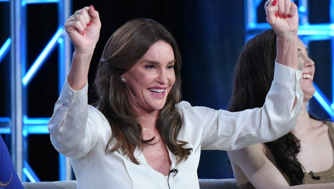 "Caitlyn at E!'s ""I Am Cait"" panel at the TCAs Thursday evening."