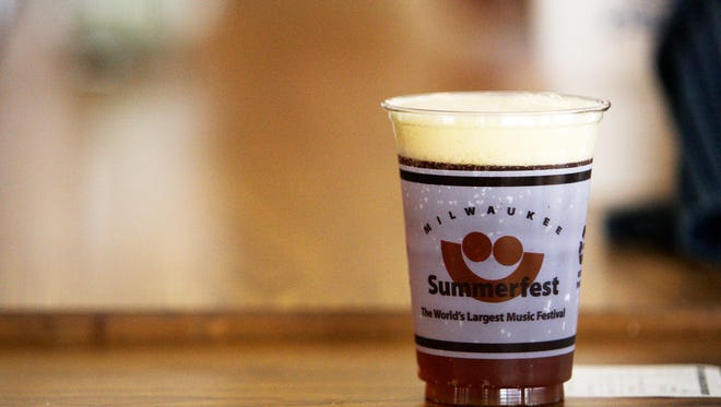 Lakefront Brewery taps a firkin each day of Summerfest. The beers are paired to the day's headliner.