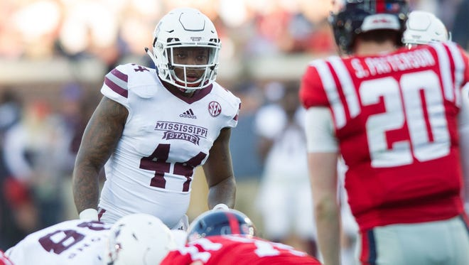 Mississippi State linebacker Leo Lewis is one of several defendants named in the Rebel Rags lawsuit.
